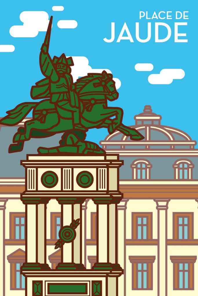 Place de Jaude et statue de Vercingétorix