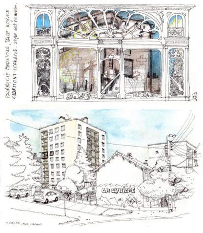 extrait du livre 4 regards sur Clermont-ferrand / Olivier Martin