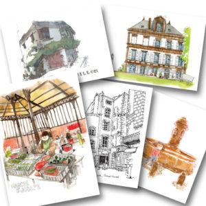cartes postales clermont-ferrand